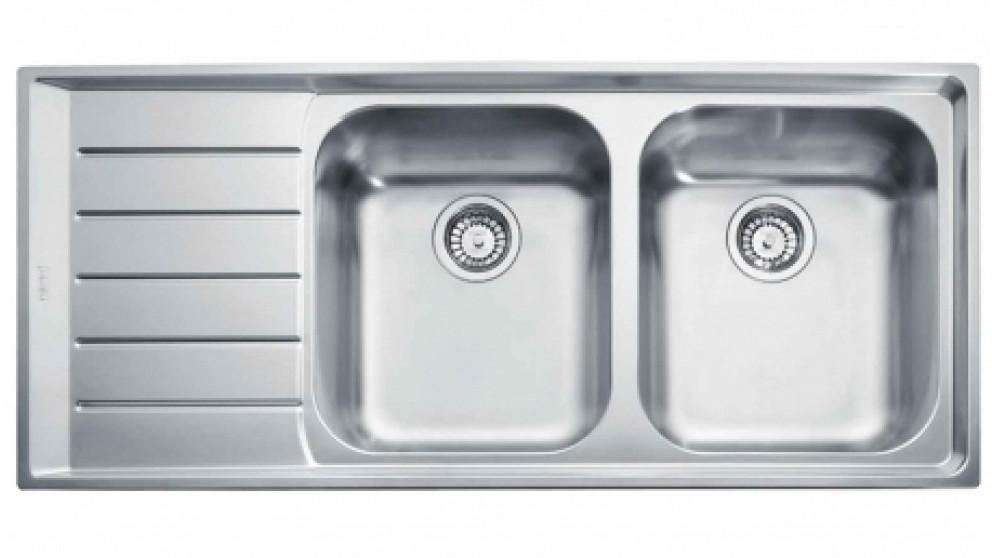 Franke Neptune Double Bowl Sink - Left Hand Drainer