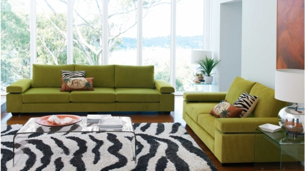 Vergo 3 seater fabric sofa lounges living room for Living room furniture sets australia