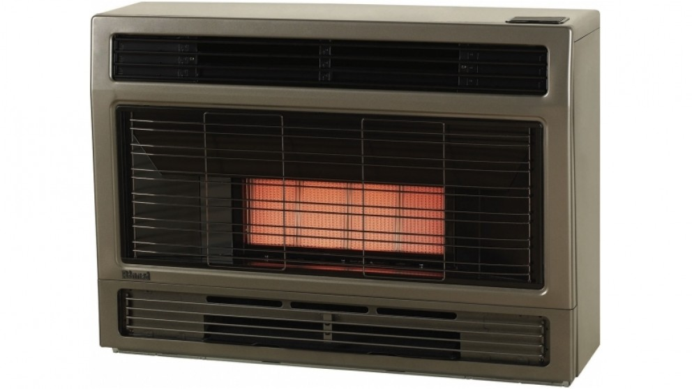 Rinnai Spectrum Space Natural Gas Heater Inbuilt  - Metallic Brown
