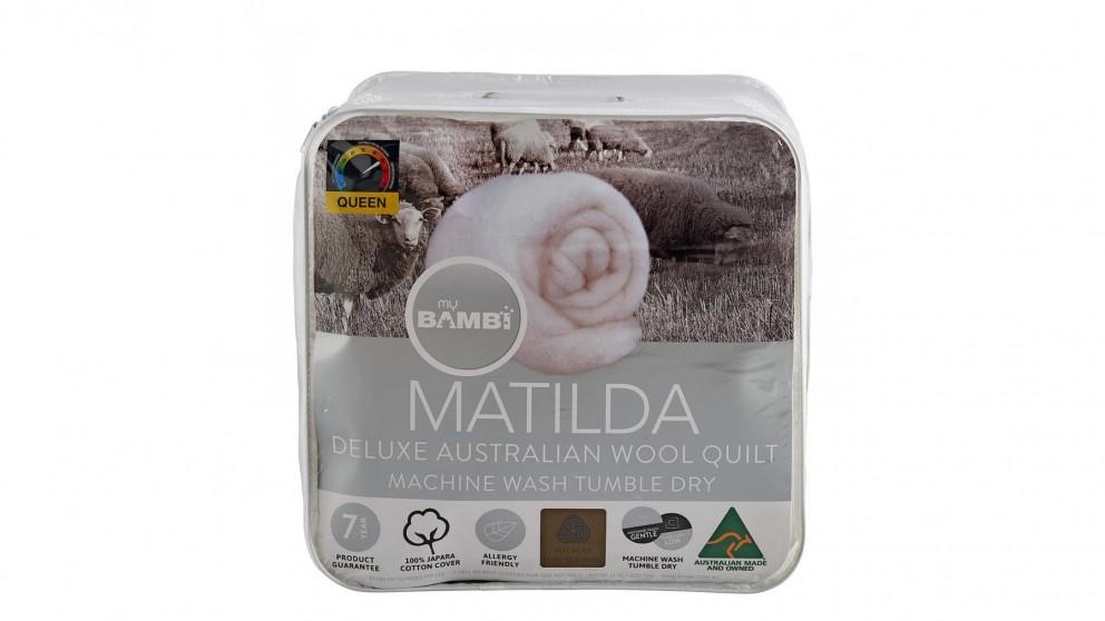Matilda Woolmark Gold Label Lightloft Double Quilt