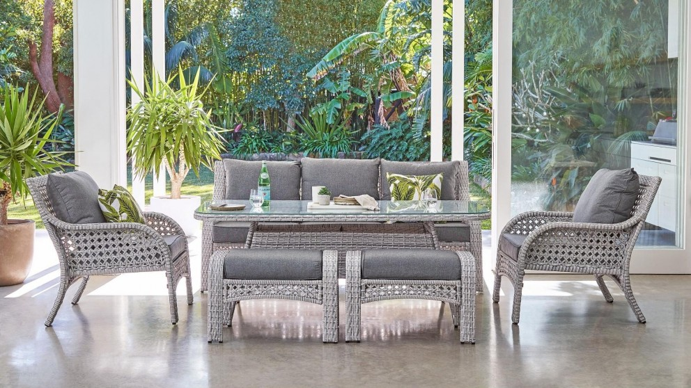 Fraser 6 Piece Outdoor Lounge, Smart Living 6 Piece Patio Set
