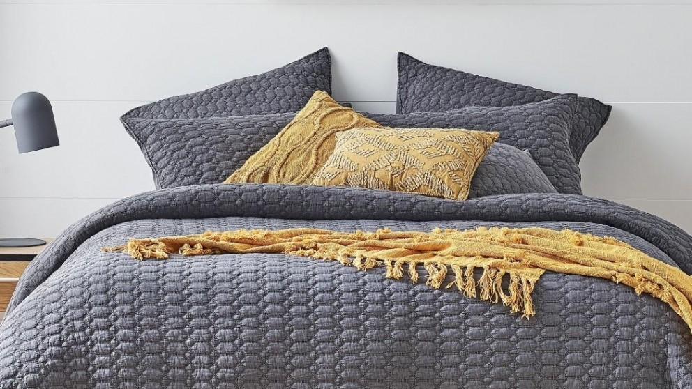 L'Avenue Drazan Charcoal Cushion