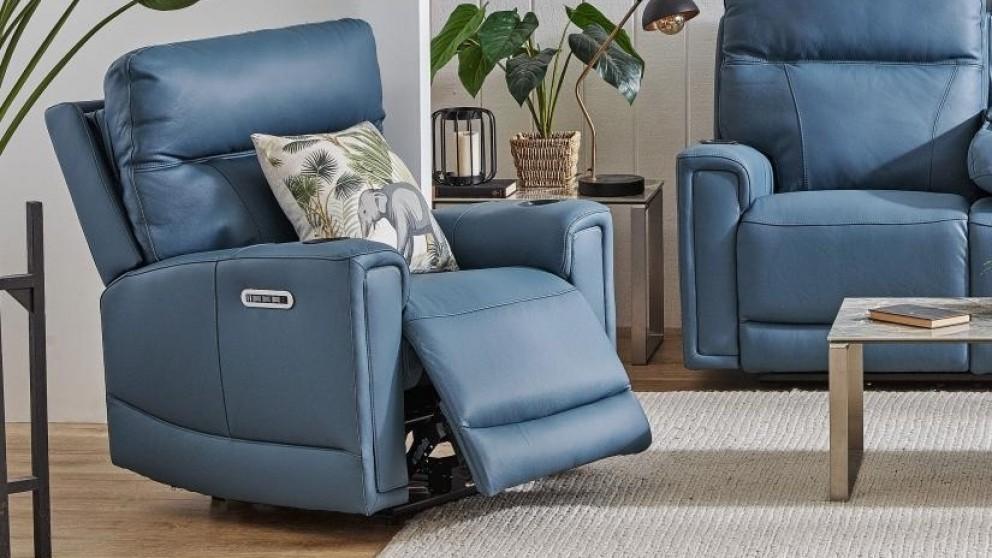 Leura Leather Powered Recliner Armchair
