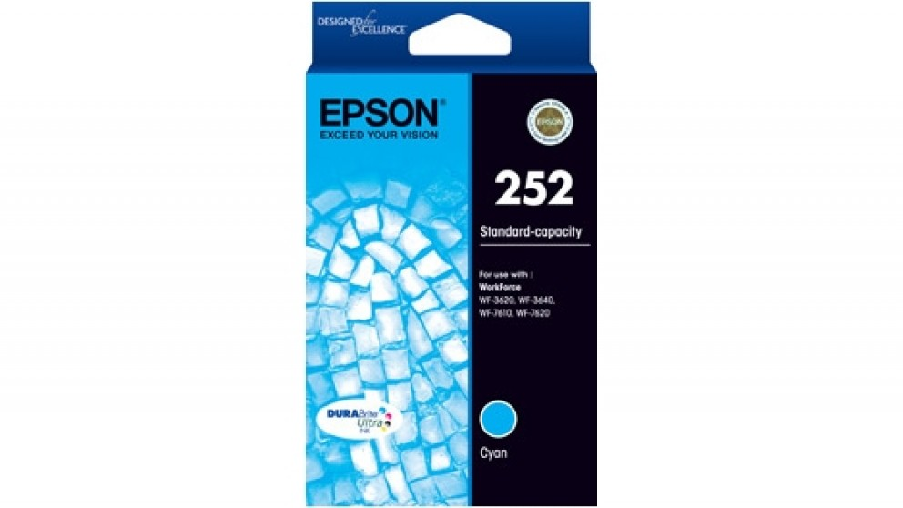 Epson 252 Durabrite Ink Cartridge - Cyan
