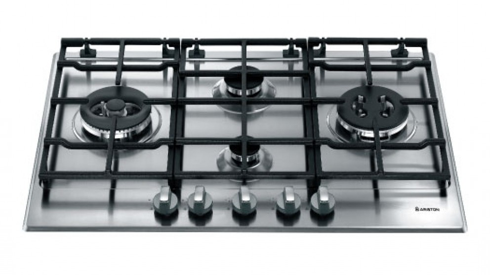 Buy Ariston 750mm 4 Burner Gas Cooktop - Stainless Steel | Harvey ...