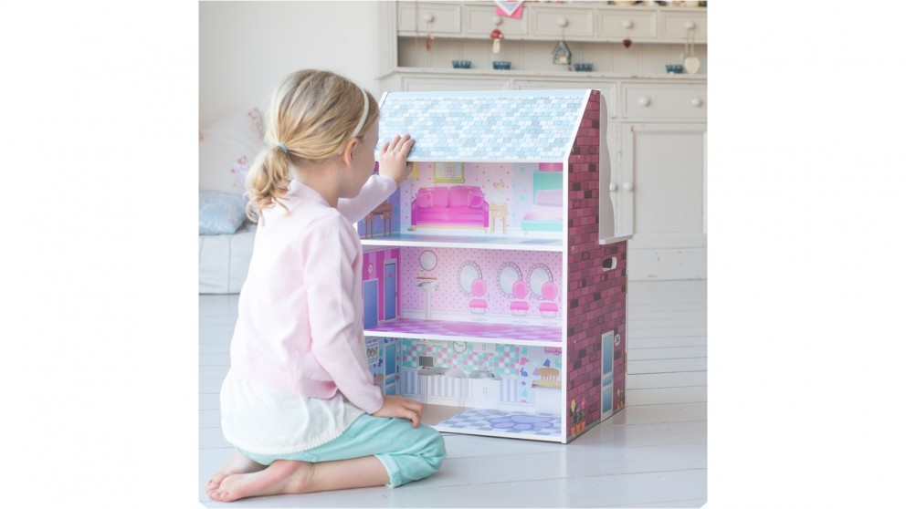 Plum 2-in-1 Wooden Kitchen and Doll House Set