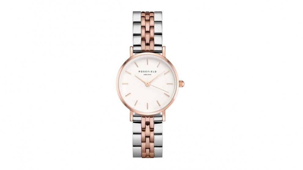 Rosefield Small Edit Bracelet Watch - Rose Gold/Silver Tone
