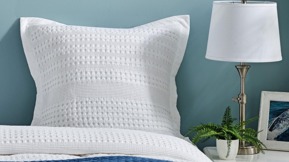 Arles White European Pillowcase