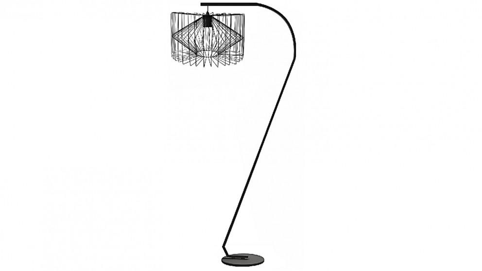 Buy Finley Black Floor Lamp   Harvey Norman AU