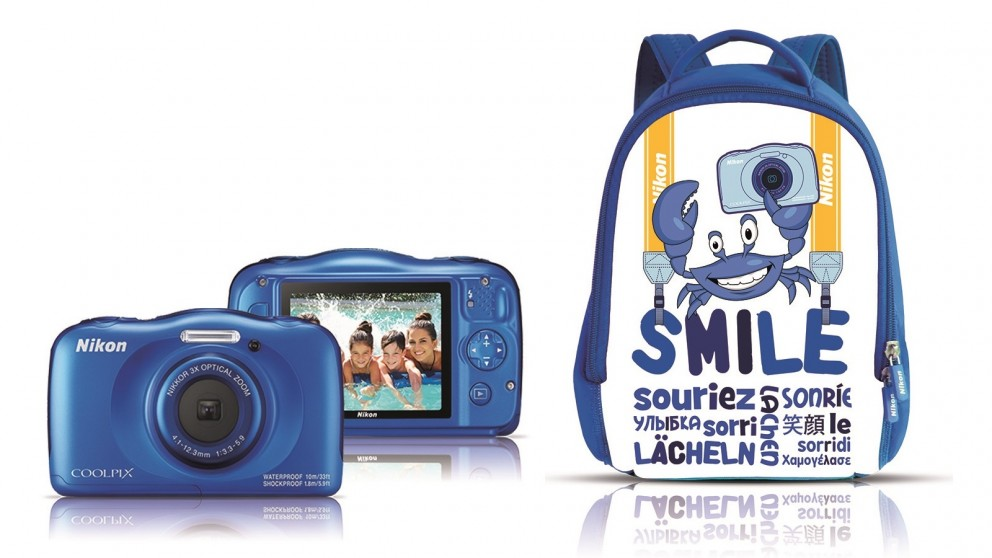 Cheap Nikon Coolpix W100 Family Kit - Blue | Harvey Norman AU