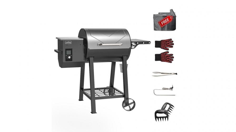 ASMOKE AS500N-2 Wood Pellet Grill - Silver