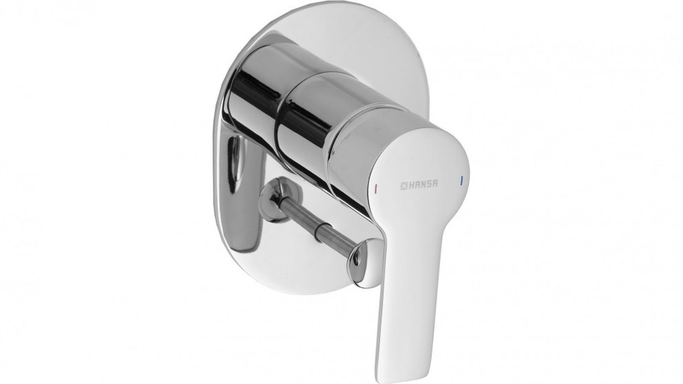 Hansa Ligna Oval Shower or Bath Mixer with Diverter and In-Wall Body