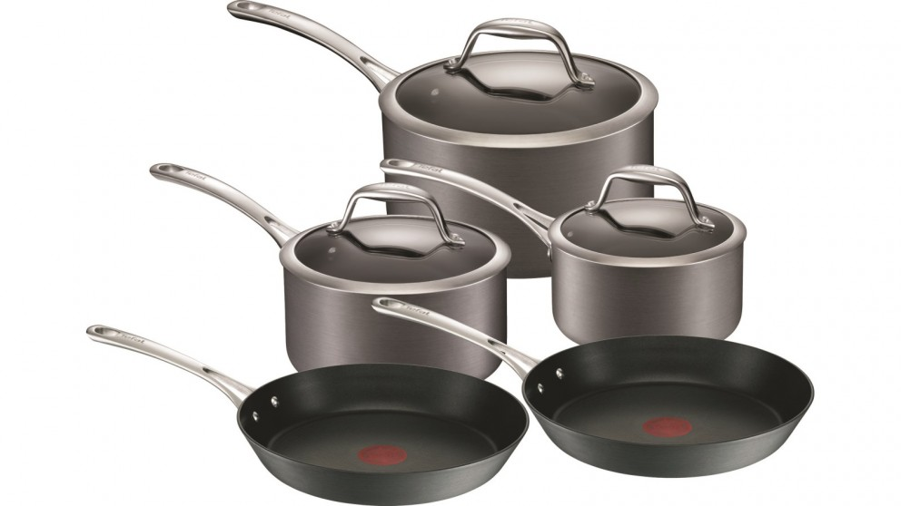 cheap tefal gourment anodised 5 piece induction cookware. Black Bedroom Furniture Sets. Home Design Ideas