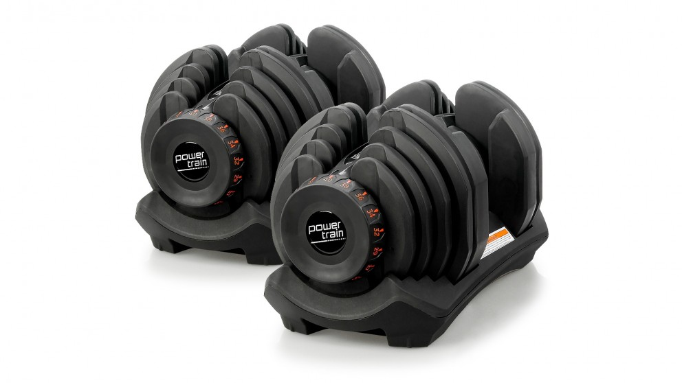 PowerTrain Adjustable Dumbbell Pair 80kg