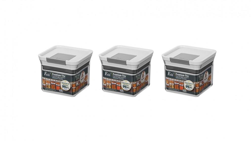 Felli Premium-Tite 0.5L Small Storage Container - 3 Pack