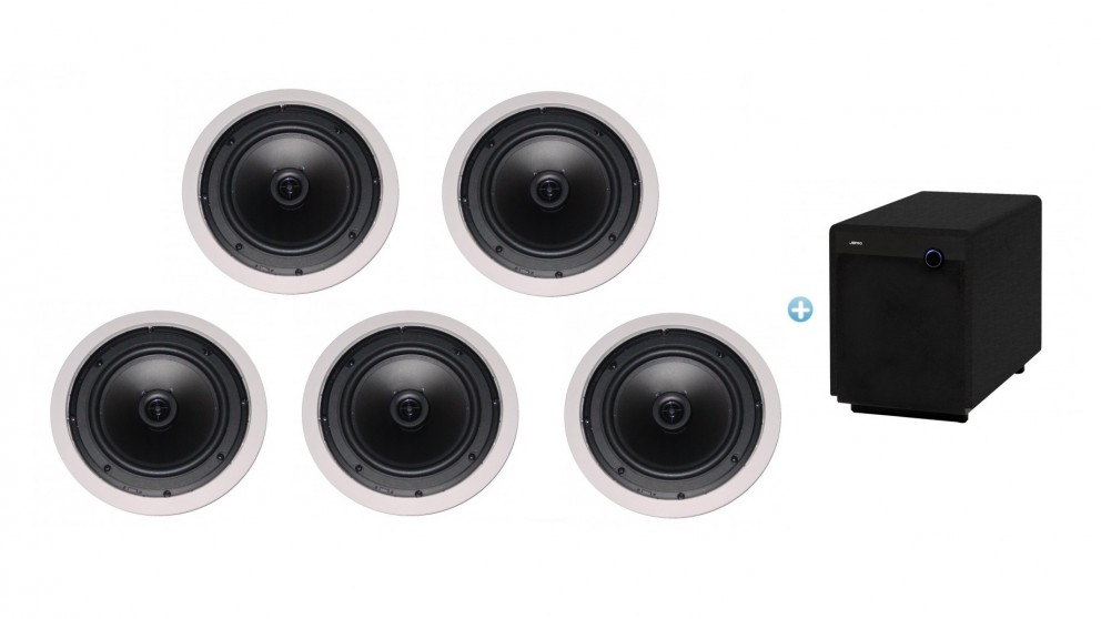 Jamo 8.5CS T In-Ceiling Speaker Pack with SUB300 Subwoofer