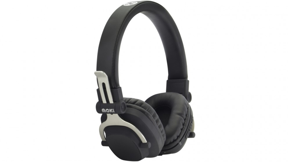Moki EXO Double Black Bluetooth Headphones
