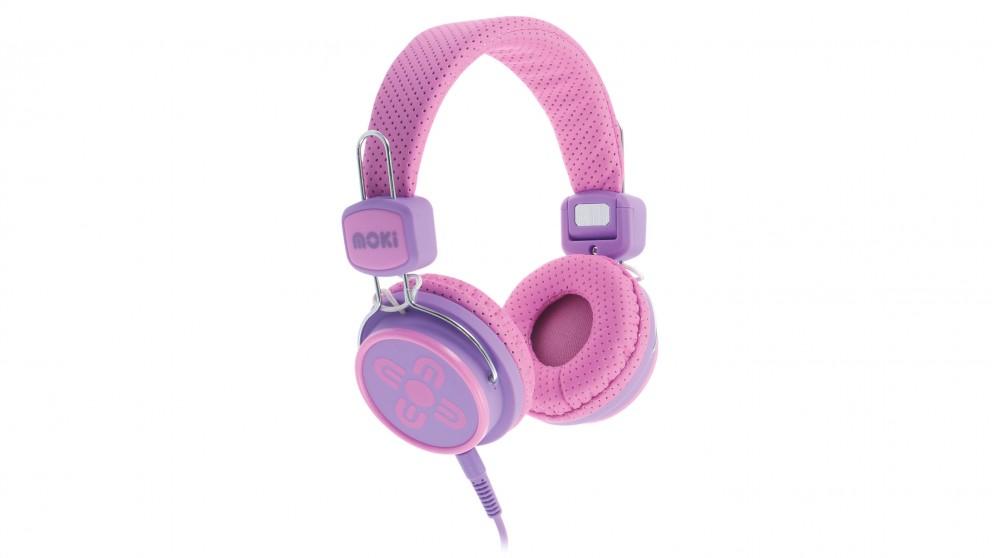 Moki Kid Safe Limited On-Ear Headphones - Pink/Purple