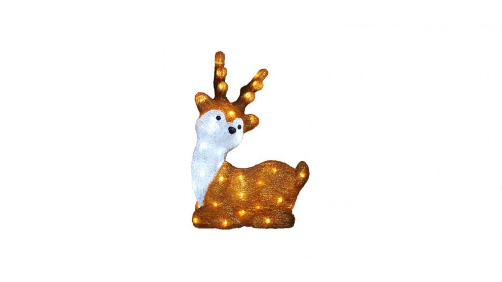 Lexi Lighting Acrylic Laying Cute Reindeer - 40cm