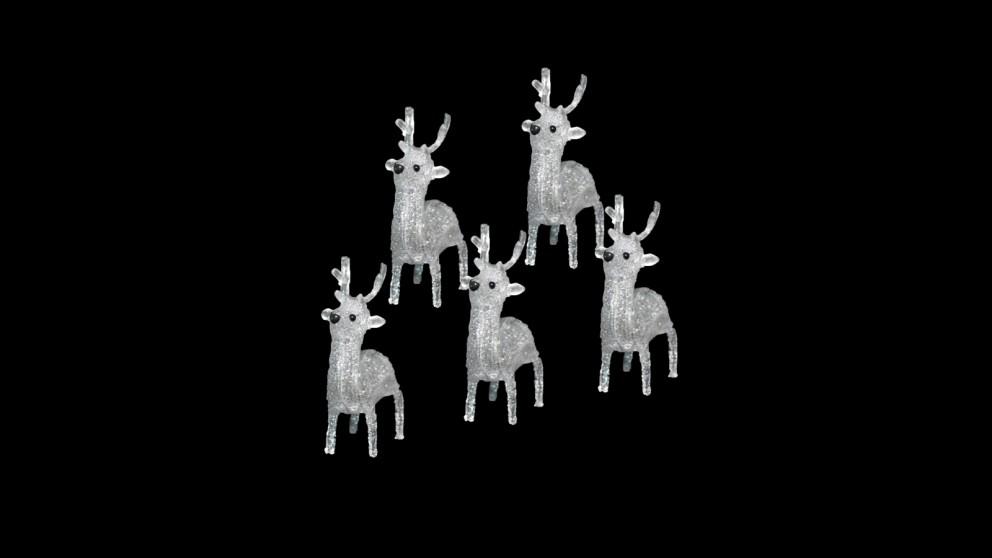 Lexi Lighting Acrylic Baby Reindeer - 5-Piece Set