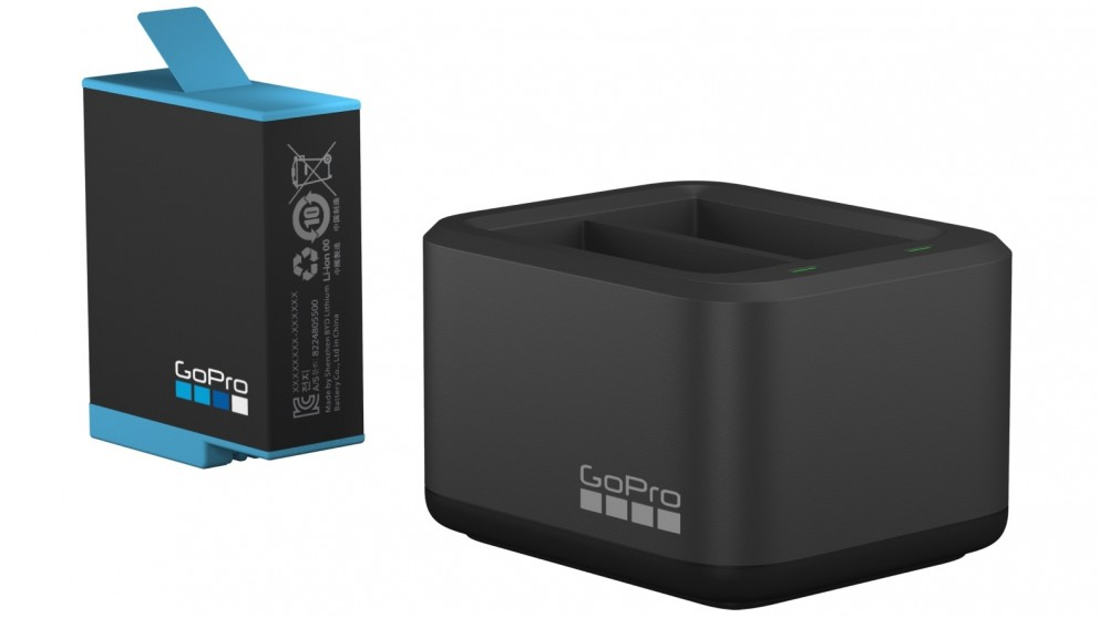 GoPro Dual Battery Charger + Spare Battery for HERO10 & HERO9