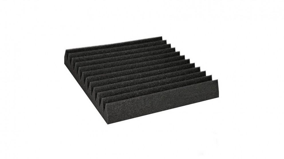 60 Pieces 12-Tooth 30cmx30cm Wedge Acoustic Foam Sound Absorbtion Panel - Black