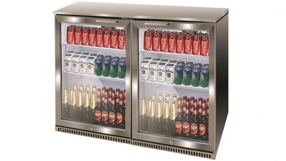 Buy Airflo 210l Double Door Bar Cooler Stainless Steel Harvey