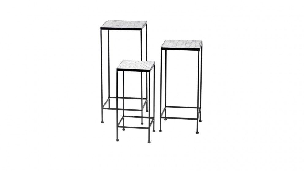 Cooper & Co. Honeycomb Mosaic Planter Stand - Set Of 3