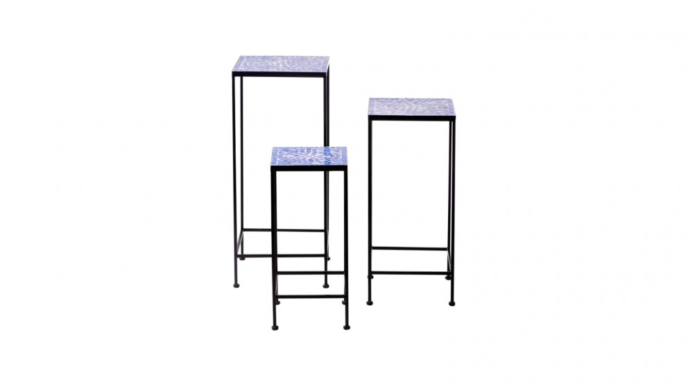 Cooper & Co. Marmi Mosaic Plant Stand - Set Of 3