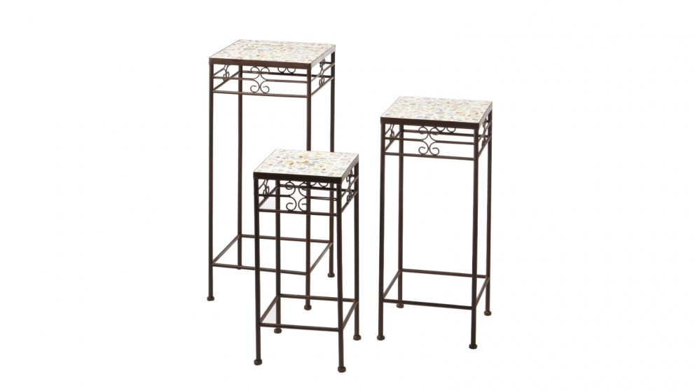 Cooper & Co. Provence Mosaic Plant Stand - Set Of 3