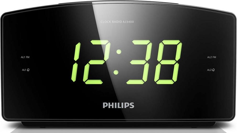 Philips Large Display Alarm Clock Radio