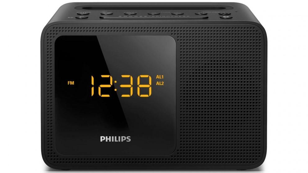 Philips Alarm Clock Radio - Black