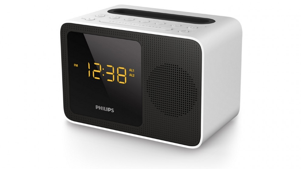 philips ajt5300 digital clock radio with bluetooth radios sound systems headphones audio. Black Bedroom Furniture Sets. Home Design Ideas