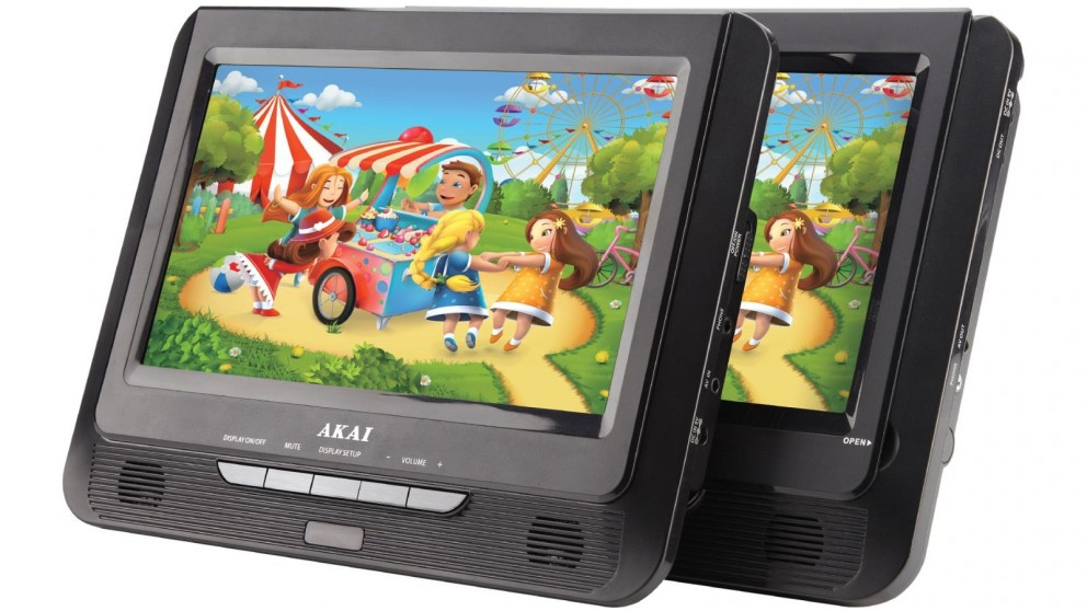Akai 9-inch Dual Screen Portable DVD Player
