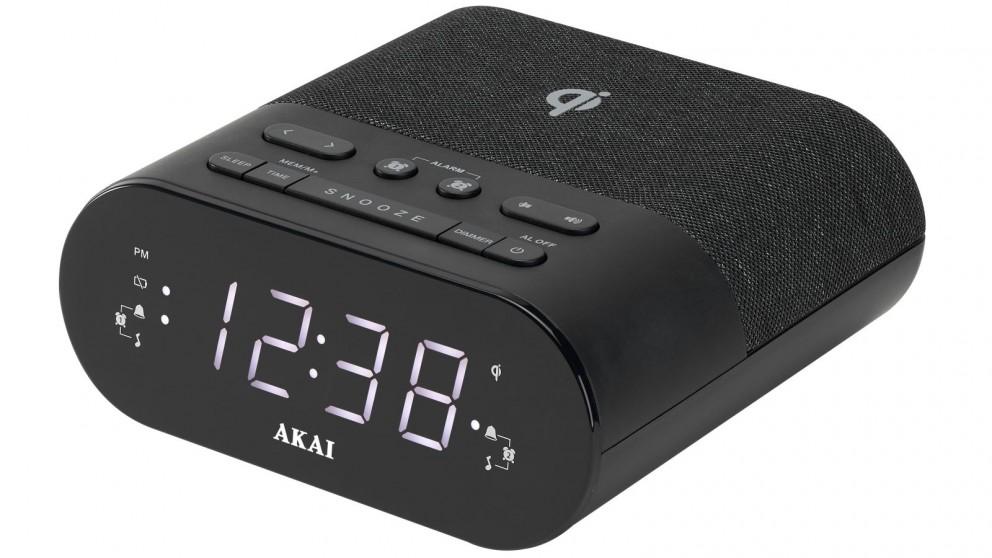 Akai Clock Radio with Wireless Charger