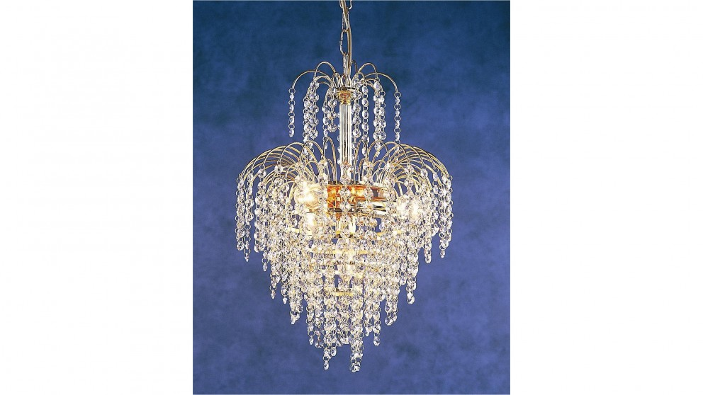 Waterfall Gold 4 Light Chandelier
