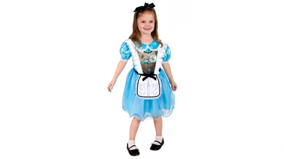 Alice In Wonderland Falling Alice 4-6 Years Old Lenticular Child Costume