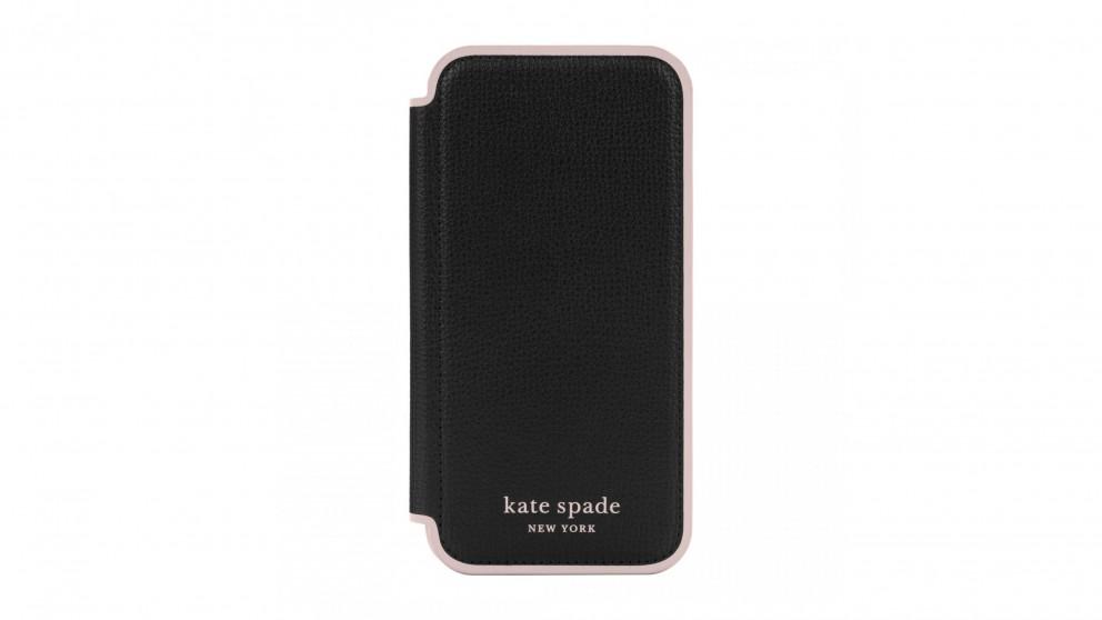 Kate Spade New York Folio Case for iPhone 13 - Black
