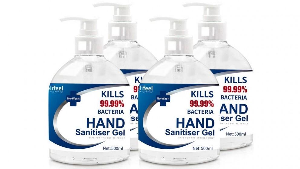 Relifeel 4x 500ml Hand Sanitiser