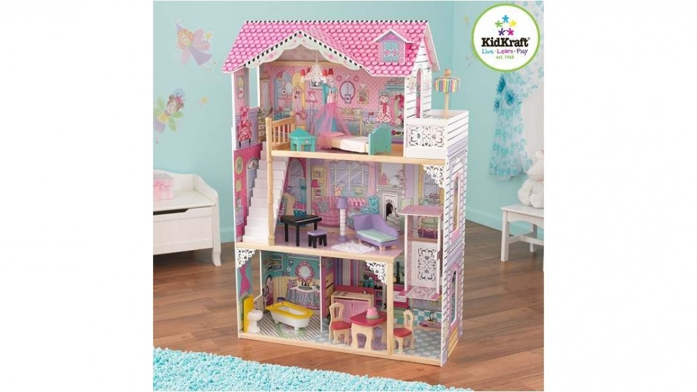 kidkraft ds annabelle dollhouse with furniture doll