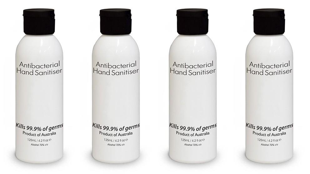 4x 125ml Antibacterial Hand Sanitiser