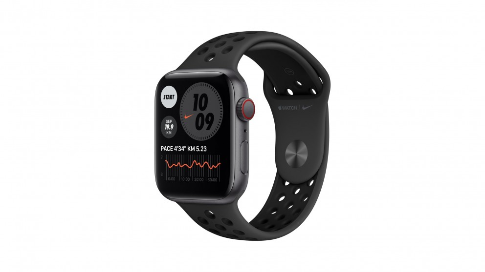 Apple Watch Nike SE 44mm Space Grey Aluminium Case with Nike Anthracite Sport Band - GPS + Cellular