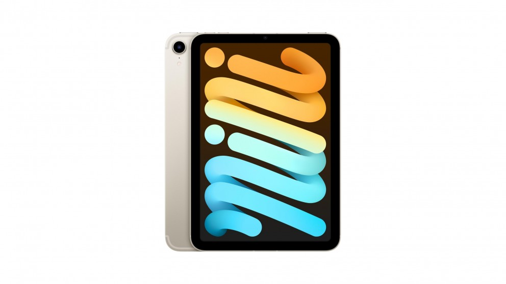 Apple iPad mini Wi-Fi + Cellular 64GB (6th Generation) - Starlight