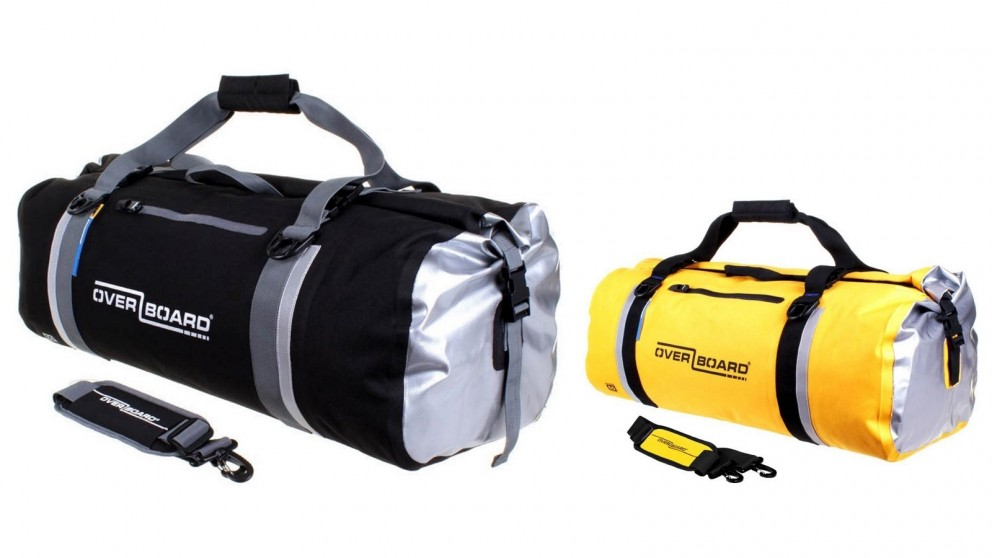 Overboard Adventure 60L Duffel Bag White Biker Motorcycle Kit Bag Backpack