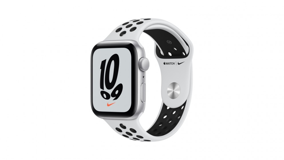 Apple Watch Nike SE 44mm Silver Aluminium Case with Pure Platinum/Black Nike Sport Band - GPS