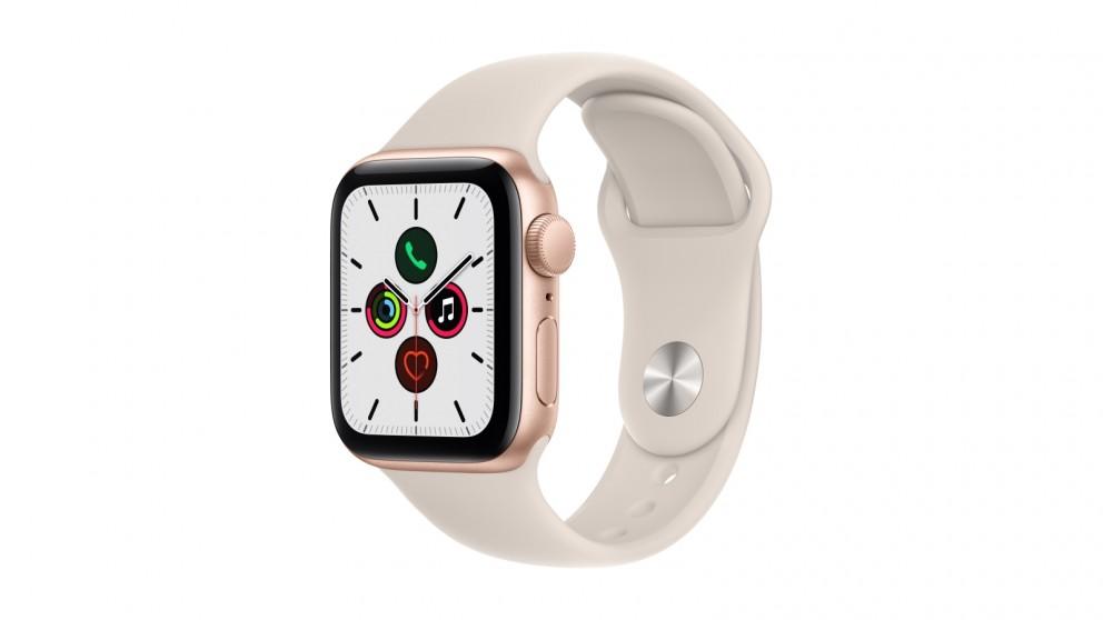 Apple Watch SE 40mm Gold Aluminium Case with Starlight Sport Band - GPS