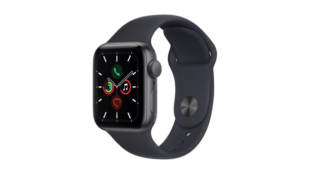 Apple Watch SE 40mm Space Grey Aluminium Case with Midnight Sport Band  - GPS