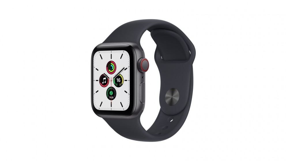 Apple Watch SE 40mm Space Grey Aluminium Case with Midnight Sport Band - GPS + Cellular