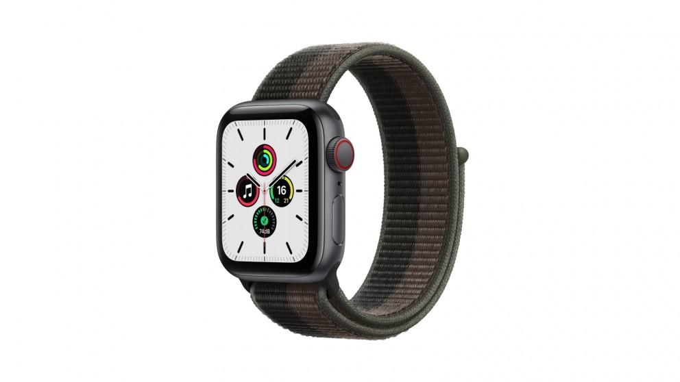 Apple Watch SE 40mm Space Grey Aluminium Case with Tornado/Grey Sport Loop - GPS + Cellular