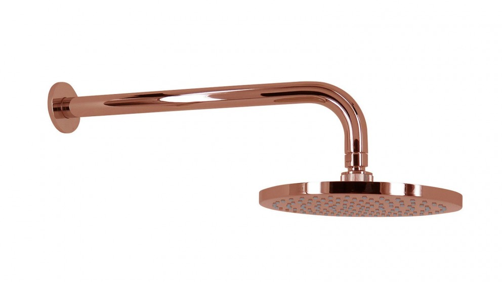 Arcisan Synergii 200mm Round Wall Mounted Shower Head with Arm - Rose Gold PVD